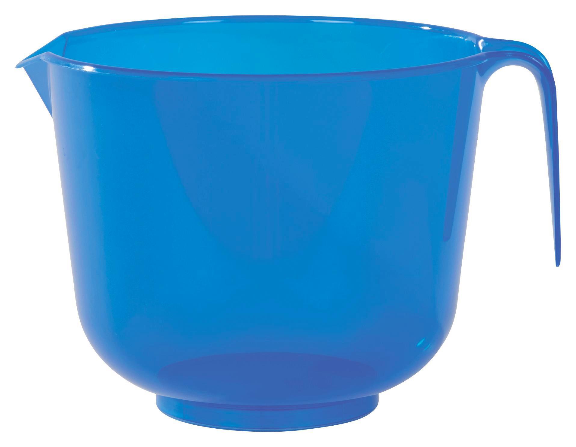 Keverőtál Csúszásgátlóval - natúr színek/piros, konvencionális, műanyag (17.5/14.8cm)