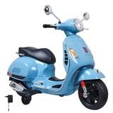 Kindermotorrad Ride-On Vespa Gts 125 Blau - Blau/Silberfarben, Basics, Kunststoff (101/45,5/76cm)