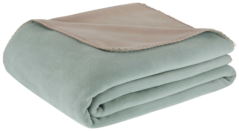 Fleecová Přikrývka Martin Oboustranná - šedá/zelená, Konvenční, textil (150/200cm) - MÖMAX modern living