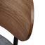Křeslo Jonas - šedá/barvy vlašských ořechů, Moderní, kompozitní dřevo/textil (58/72/64cm) - Modern Living