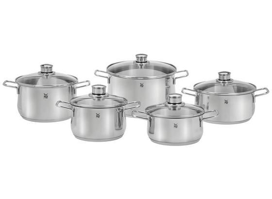 WMF Kochtopfset Diadem Plus 10-Teilig - Silberfarben, MODERN, Glas/Metall - WMF