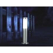 Led Außenleuchte Boston 9 Watt Edelstahl - Edelstahlfarben/Opal, Basics, Kunststoff/Metall (13,1/45cm)