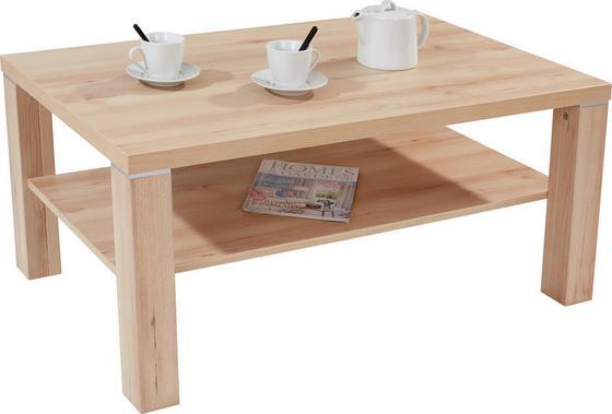 Dohányzóasztal Coffee - bükk színű, modern, faanyagok (110/45/67cm)
