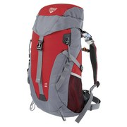 Rucksack 45 Liter Pavillo Grau/Rot mit Bauchgurt - Rot/Grau, MODERN, Kunststoff (45l) - Bestway
