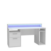 Gaming Tisch Tezaur B: 160 cm - Weiß, Basics, Holzwerkstoff/Kunststoff (160/91/72cm) - MID.YOU