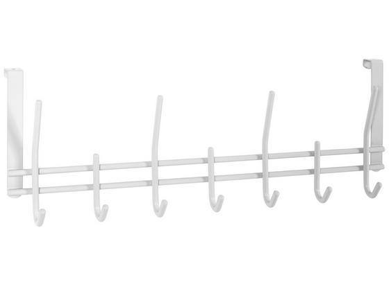 Hakenleiste Carla - Weiß, MODERN, Metall (54/20/7cm)