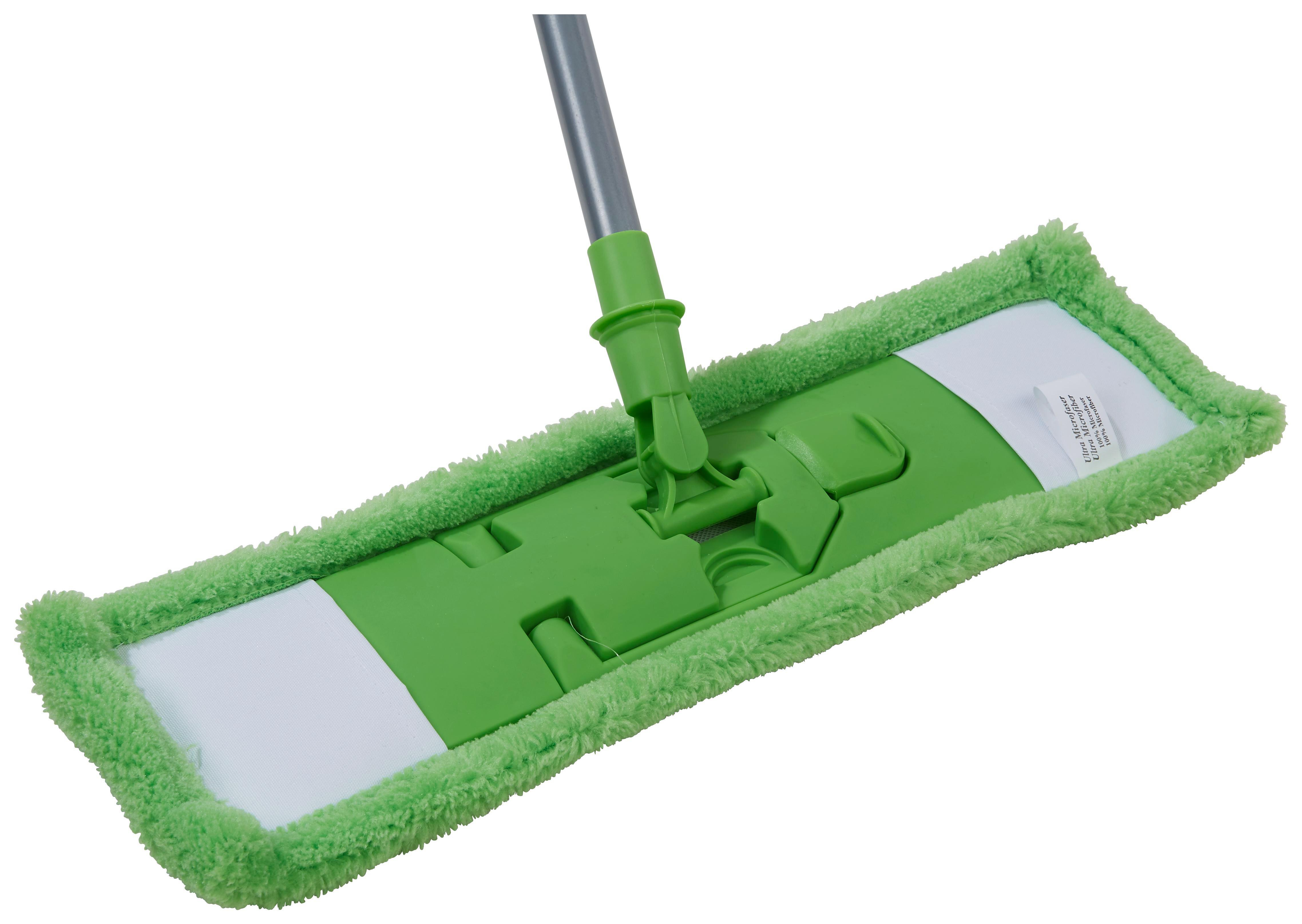 Felmosó Műanyag - kék/zöld, konvencionális, műanyag/textil (44/138cm)
