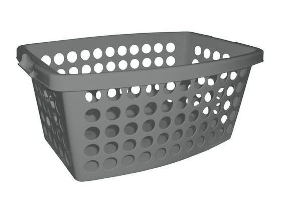 Ruháskosár Carmen - Szürke, konvencionális, Műanyag (56/39/22cm) - Plast 1