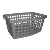 Wäschekorb Carmen 40 Liter - Grau, KONVENTIONELL, Kunststoff (56/39/22cm) - PLAST 1