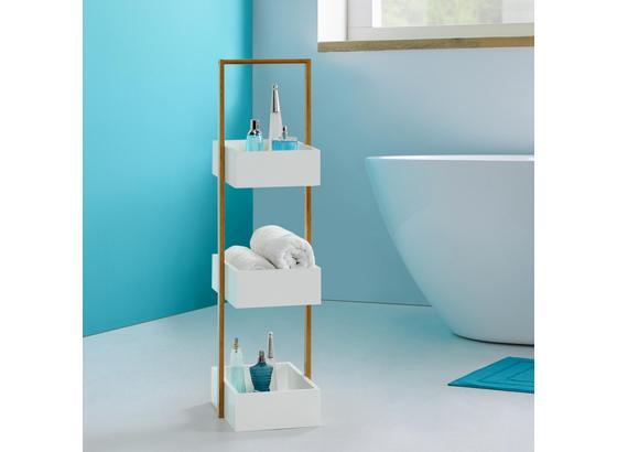 789468092 Regál Do Kúpeľne Mirella - biela/farby buku, Moderný, drevo (32/