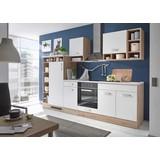 Kuchynská Linka Welcome Madeira - farby dubu/biela, Moderný, drevený materiál (290/206/60cm)