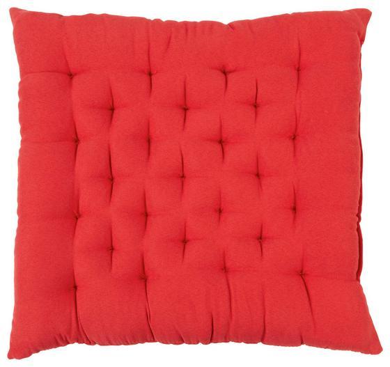 Sitzkissen Agatha 40x40 cm - Rot, KONVENTIONELL, Textil (40/40/6cm) - Ombra