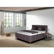 Polsterbett Lasse 200x200 cm Braun - Eichefarben/Anthrazit, MODERN, Holz/Kunststoff (200/200cm) - Carryhome