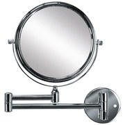 Kosmetikspiegel Ridge Mirror - Chromfarben/Silberfarben, MODERN, Glas/Metall (17cm) - Kleine Wolke