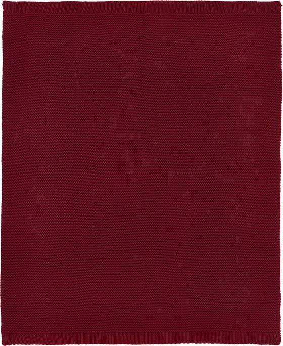 Deka Romance Strick - vínově červená, Romantický / Rustikální, textil (127/152cm) - MÖMAX modern living