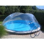 Pooldach Cabrio Dom - Transparent, Basics, Kunststoff (460cm)