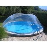 Pooldach Cabrio Dom - Transparent, Basics, Kunststoff (550cm)