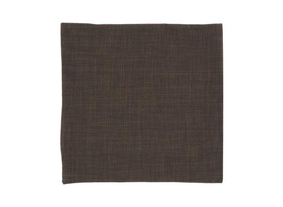Poťah Na Vankúš Leinen - tmavohnedá, Konvenčný, textil (40/40cm) - Mömax modern living