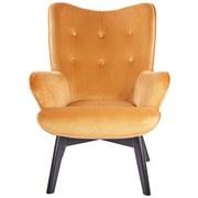 Armlehnstuhl B: 75 cm Orange - Schwarz/Orange, Basics, Holz/Textil (75/100/83cm)