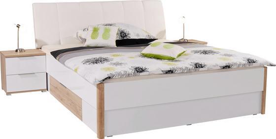 Postelová Sestava Florenz - bílá/barvy dubu, Konvenční, dřevěný materiál (192/100/215cm)