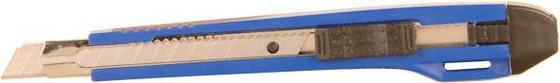 Cuttermesser mit Autolock, Schmal - Blau/Silberfarben, KONVENTIONELL, Kunststoff/Metall (14cm) - Gebol