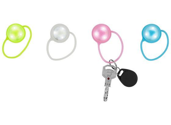Schlüsselanhänger LED Light - Blau/Pink, Design, Kunststoff (3/19.5/1.1cm)