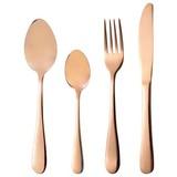 Besteckset 24-Teilig Kupferfarben für 6 Personen - Kupferfarben, Basics, Metall (1.29kg)