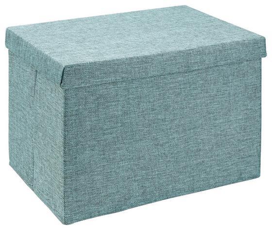 Uskladňovací Box Cindy - petrolejová, Moderný, textil (38/26/24cm) - Mömax modern living