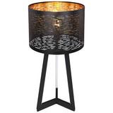 Tischlampe Tunno Schwarz/Gold mit Metallenem Lampenschirm - Goldfarben/Schwarz, Basics, Kunststoff/Metall (35/7cm)