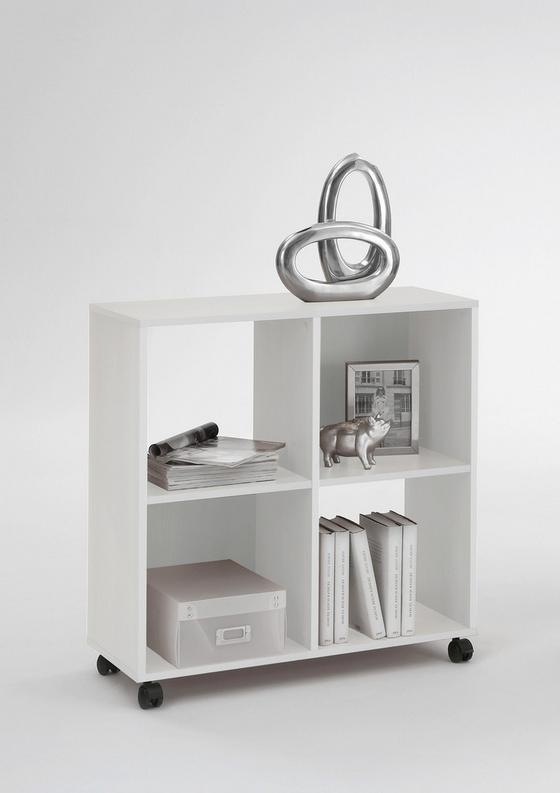 Regál Sprint - biela, Moderný, umelá hmota/drevený materiál (72/78/33cm)