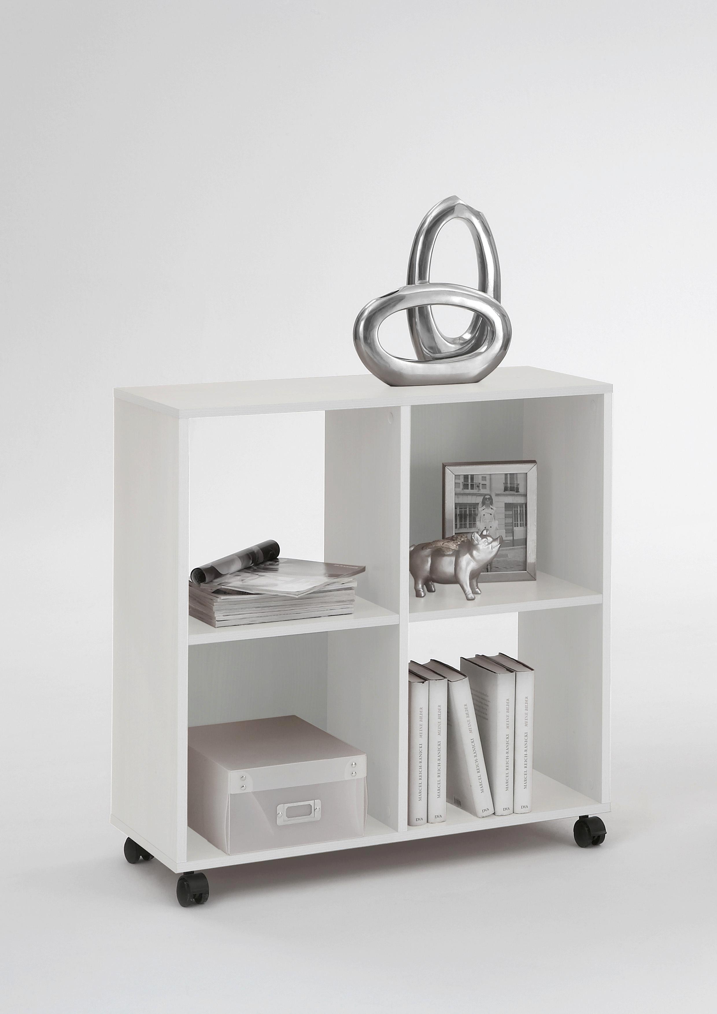 Regál Sprint - bílá, Moderní, dřevěný materiál/umělá hmota (72/78/33cm)