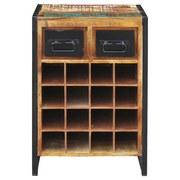 Weinregal Faro B: 53 cm Recyclingholz - Multicolor/Schwarz, Basics, Holz/Holzwerkstoff (53/80/35cm) - MID.YOU