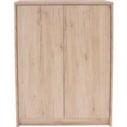 Kommode 4-You YUK07 San Remo Eiche Dekor - Dunkelbraun/Weiß, MODERN, Holzwerkstoff (74/111,4/34,6cm)