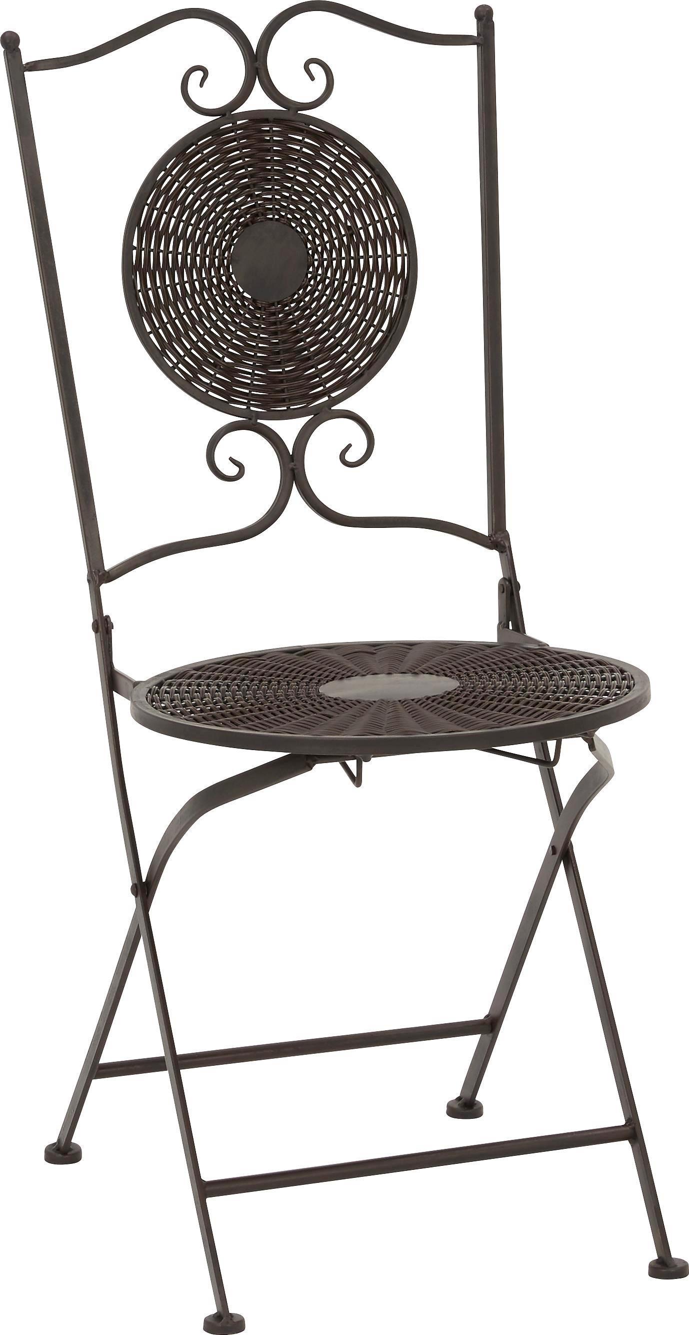 Zahradní Židle Nicolas - černá/hnědá, Moderní, kov/umělá hmota (40/90/40cm) - MÖMAX modern living