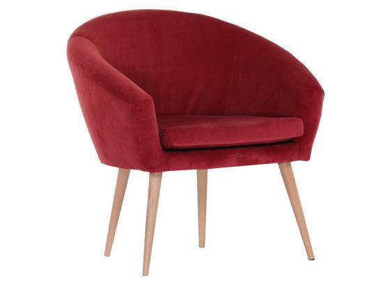 Relaxačné Kreslo Jannis - červená, Štýlový, textil (73/73/66cm)
