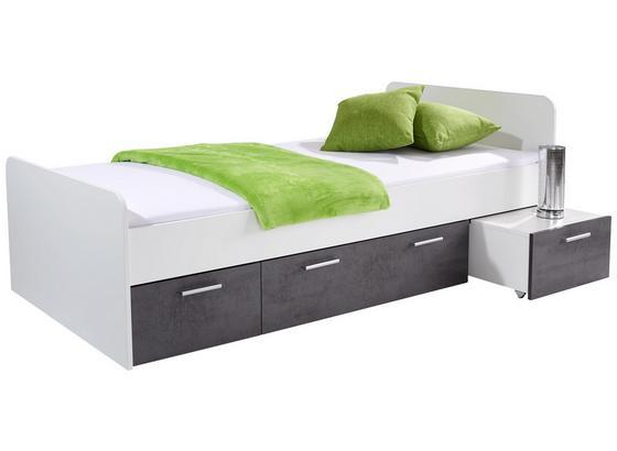 bett star 90x200 wei betonoxid online kaufen m belix. Black Bedroom Furniture Sets. Home Design Ideas