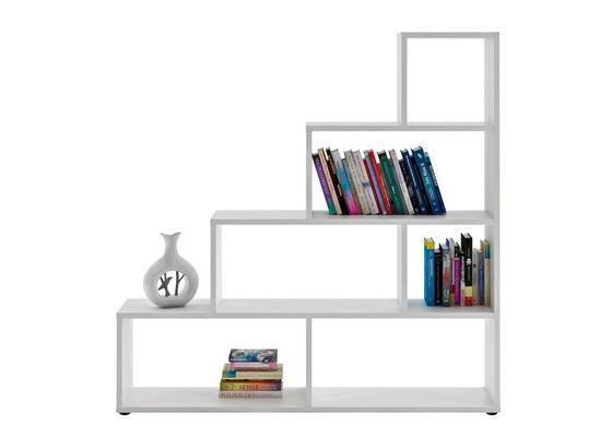 Regál Vico 3 - bílá, Moderní, kompozitní dřevo (148/148/33cm)