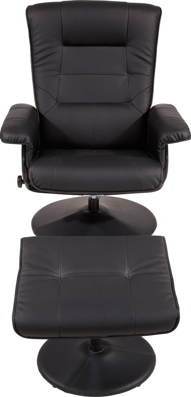 Tv-fotel Nitra - fekete, modern, textil/fém (77/101,5/68cm) - OMBRA