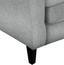 Ohrensessel Asti B: 82cm Silver - Wengefarben/Silberfarben, MODERN, Holz/Textil (82/100/84cm) - Ombra