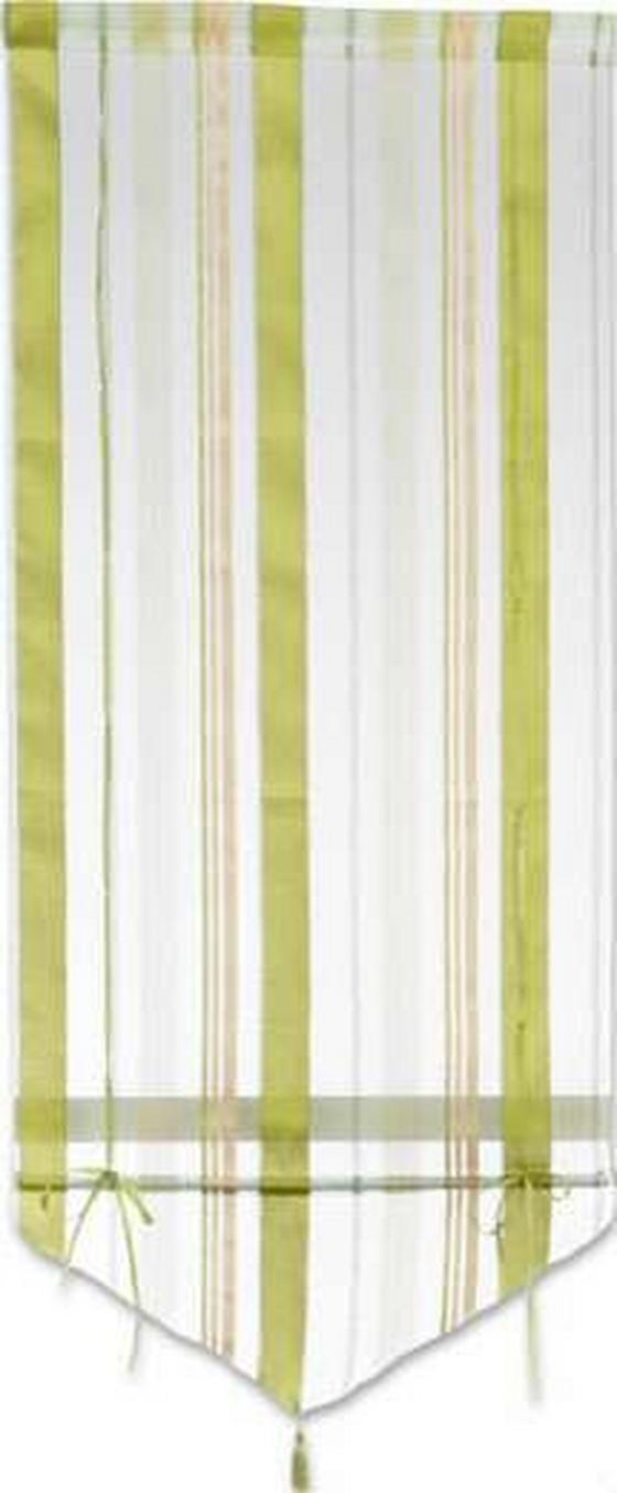 Készfüggöny Milou - barna/fekete, konvencionális, textil (60/140cm) - OMBRA