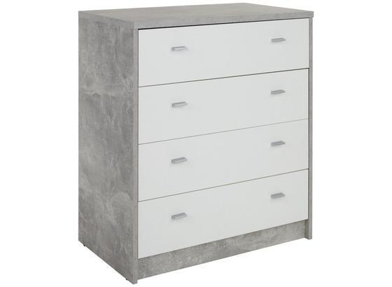 Komoda 4-you New Yuk06 - sivá/biela, Moderný, kompozitné drevo (74/85,4/44,5cm)