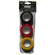 Klebeband 3 Stück - Gelb/Rot, Basics, Kunststoff (1000cm)