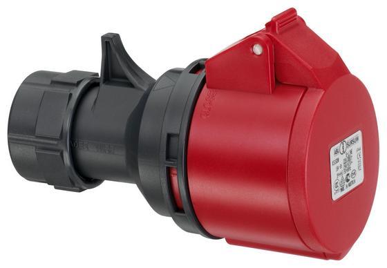 Cee Kupplung 5x32a 400v/ip44/6h - Rot/Schwarz, KONVENTIONELL, Kunststoff (8,9/8,9/14,5cm) - ABL