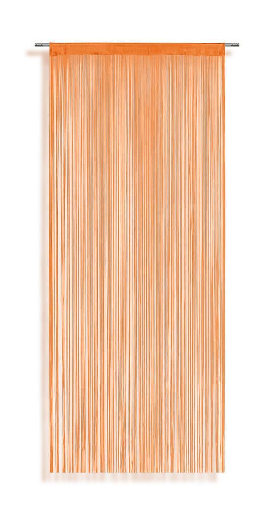 Zsinórfüggöny Marietta - Narancs, konvencionális, Textil (90/245cm) - Ombra