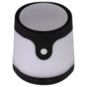 Led Tischlampe Gropina Schwarz + Lautsprecher U. Farbwechsler - Schwarz/Weiß, Basics, Kunststoff (9,8/10,7cm)