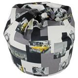 Sitzsack Jamie Taxi - Blau/Gelb, MODERN, Textil (110/75/75cm)