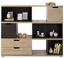 Komoda Highboard Player - barvy dubu/tmavě šedá, Moderní, kompozitní dřevo (141/116/40cm)