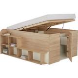 Postel Inside - bílá/barvy dubu, Moderní, dřevěný materiál (204,4/85/167,3cm)