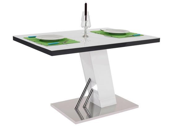 Jedálenský Stôl Metz 120 - sivá/biela, Moderný, kov/kompozitné drevo (120/76/80cm)