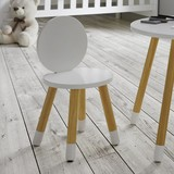 Detská Stolička Leni - biela/farby pínie, Moderný, drevený materiál/drevo (27,40/51/27,40cm) - Modern Living